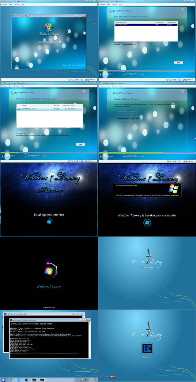 Windows 7 Luxury Setup