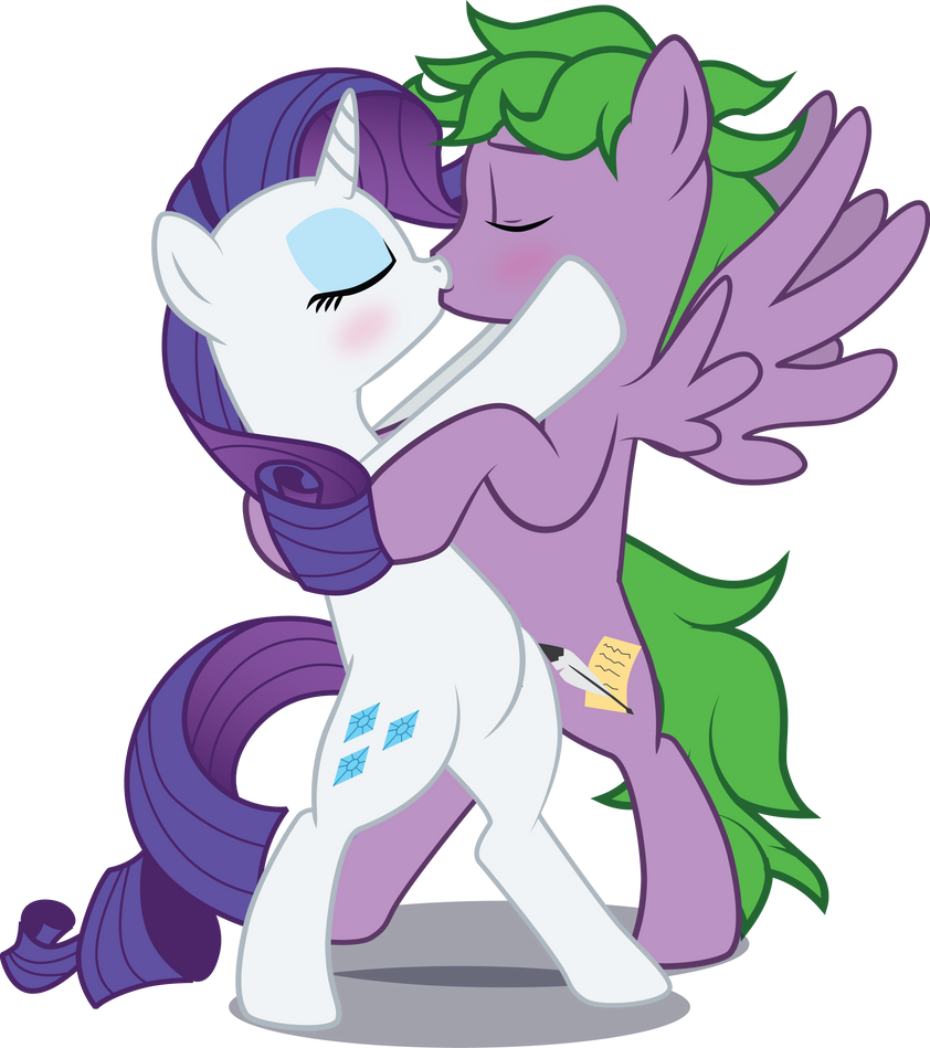 My little pony rarity and spike
