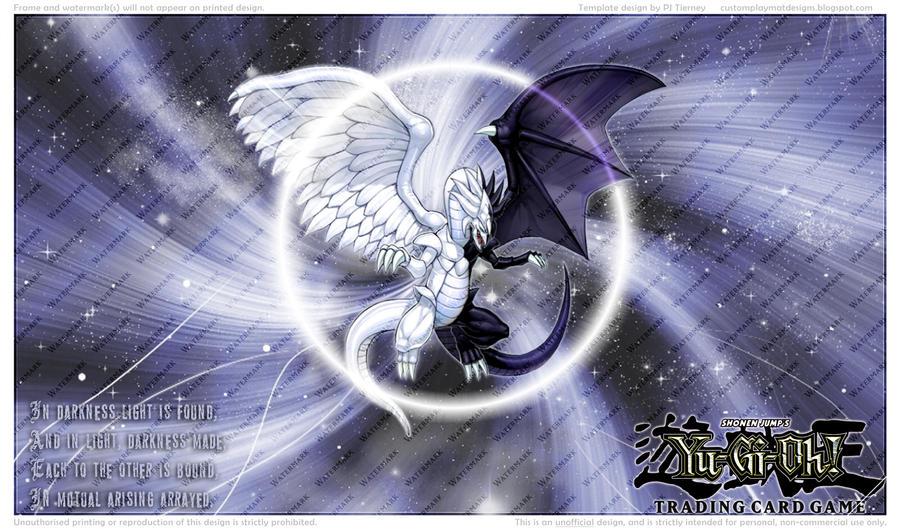 La boutique, tous à vos portes-monnaies o/ - Page 2 Light_and_darkness_dragon_playmat_by_eyeofsauron-d4l0zyh
