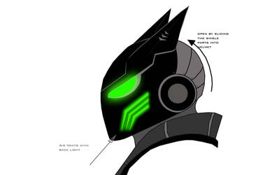 concept for my new costume helmet - future batman by EyeofSauron