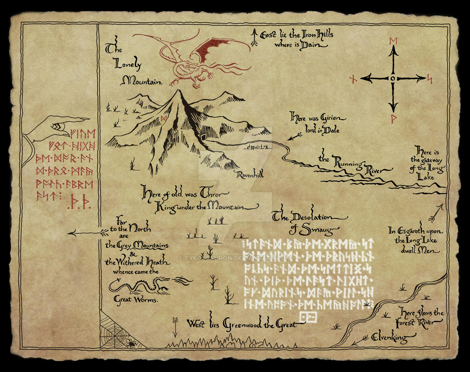 thors map the hobbit movie by eyeofsauron
