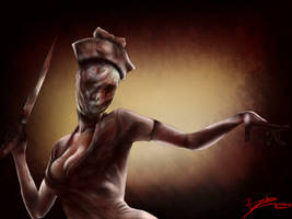 NEW DIGITAL DRAWING! Sexy Nurse from Silent Hill ! by Eikonan