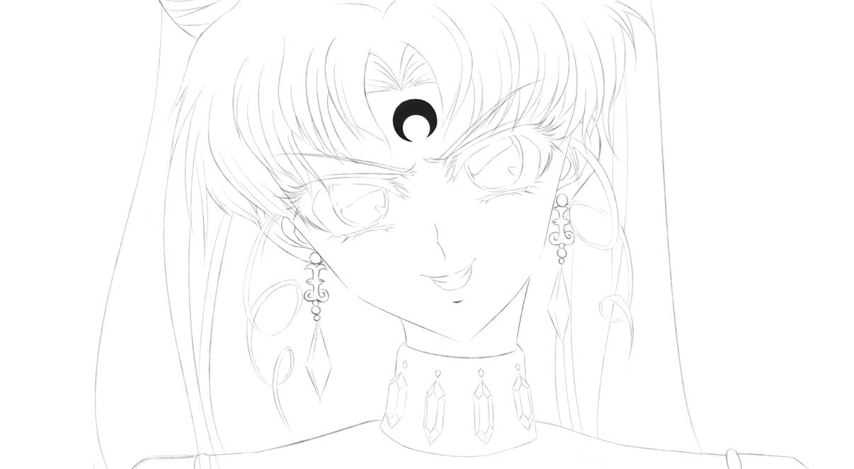 WIP. Black Lady, Sailor Moon. by Eikonan