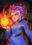 Hearthstone Card. Angry Gnome Sorceress