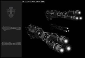 IRVA class Frigate by nakedtyrant