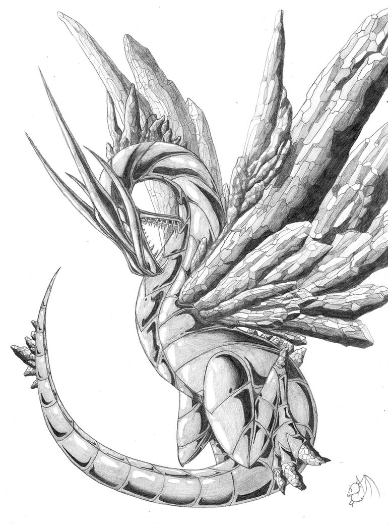 Ice Dragon Drawings In Pencil Images & Pictures  Becuo