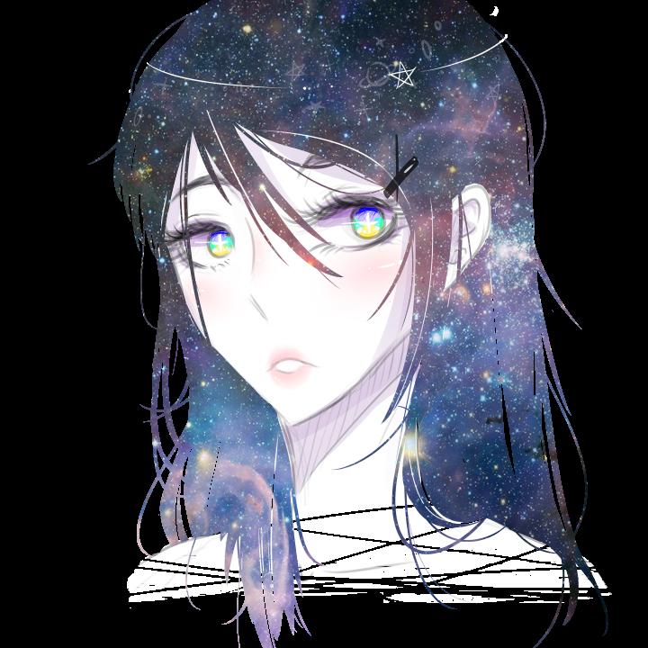 نتیجه تصویری برای galaxy girl deviantart
