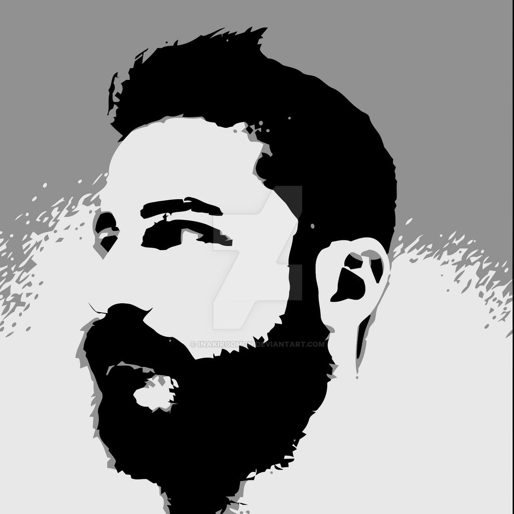 Man Face Beard Vector ...