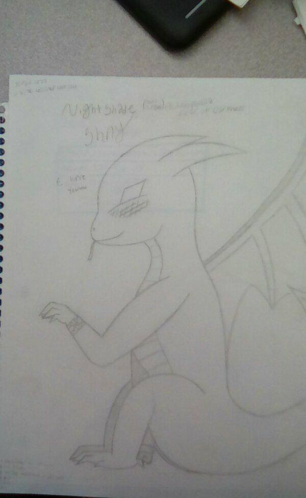 Baby Dragon Shay by MadameDellamare