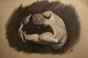 Charcoal study - Male back by Biohazard40k