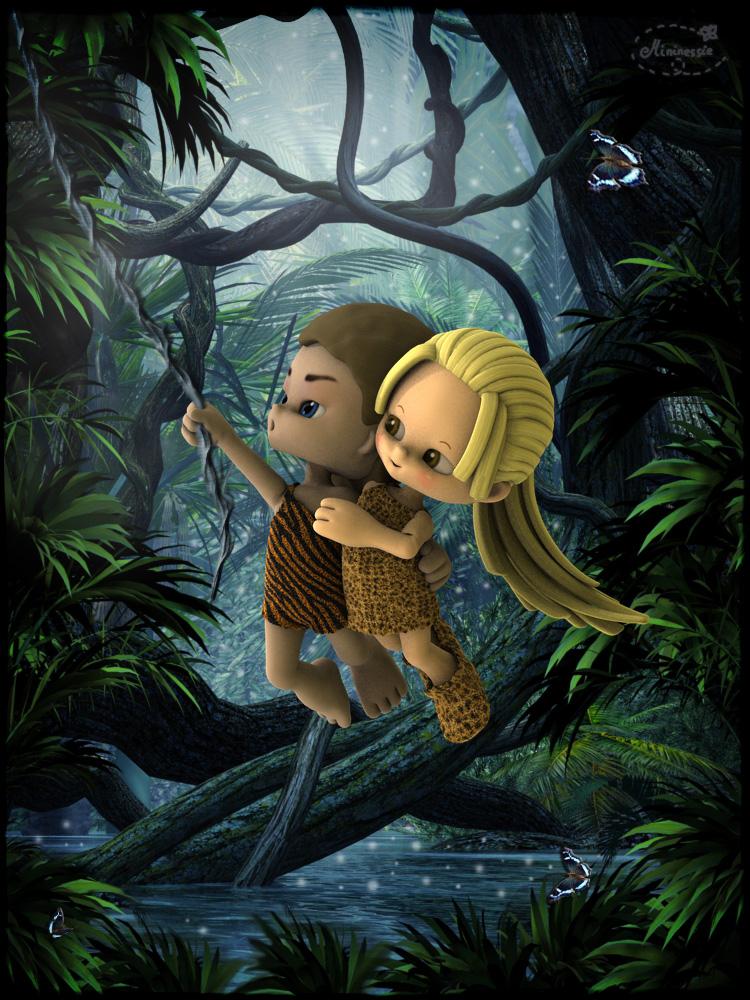 Tarzan and Jane by mininessie66