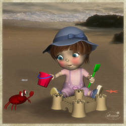 sand castle by mininessie66