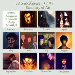 2012 Art Summary by coincidense