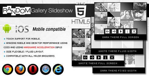 HTML5 Random Gallery Slideshow by flashdo