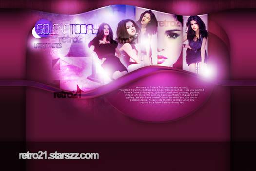 Selena Gomez Layout