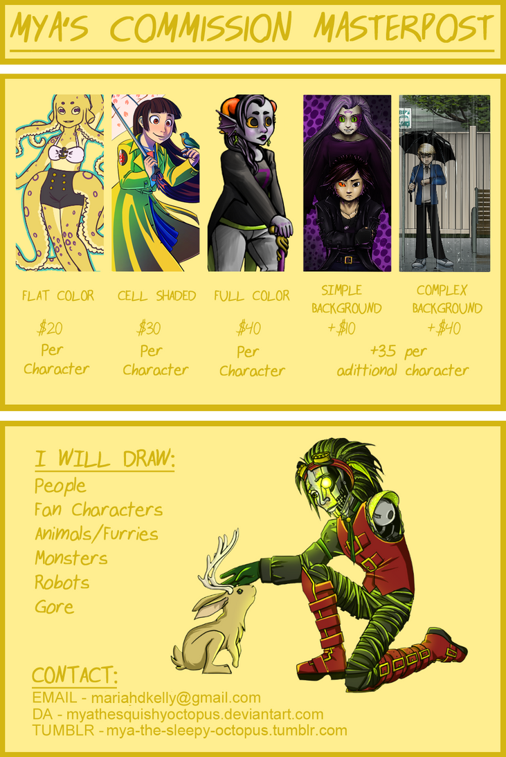 New Commission Info by MyaTheSquishyOctopus