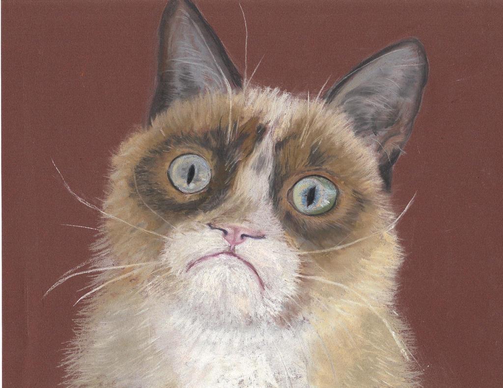 Tardar Sauce a.k.a. Grumpy Cat, pastel by ... Tardar Sauce