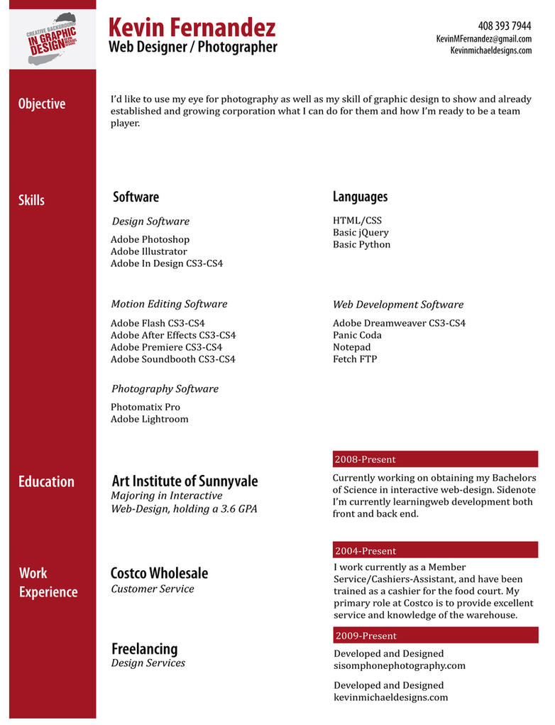 My Professional Resume By Nikond50 On Deviantart