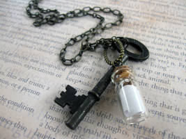 Message In A Bottle Necklace by candycrack
