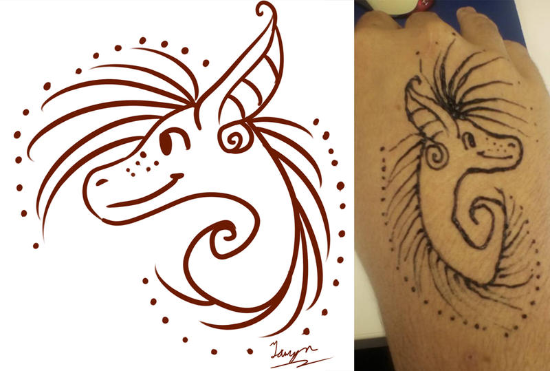 Vi Henna Design Doodle and Photo Of It Done by taalaruhun