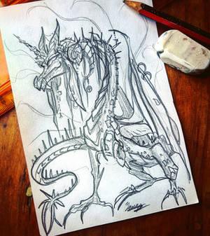 Langshan Dragon Sketch