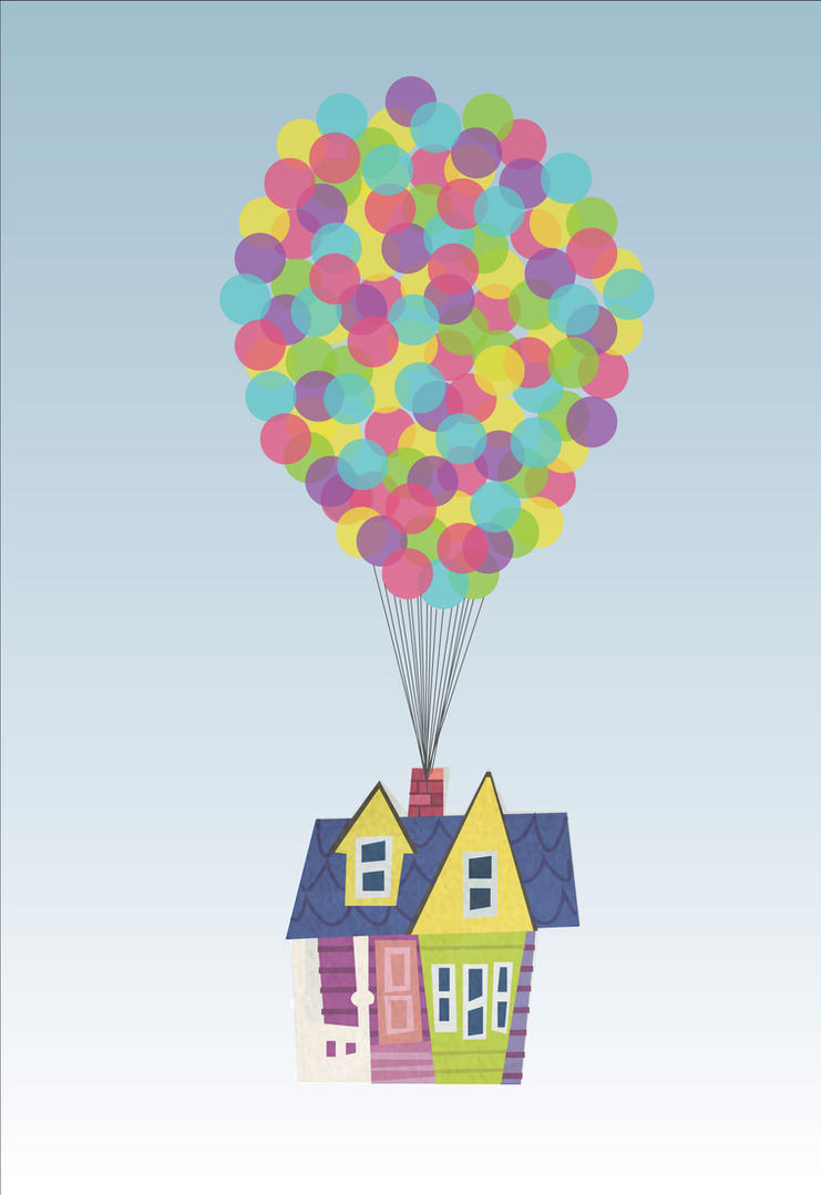 up House Balloons Pixar Pixar up Balloons Drawing