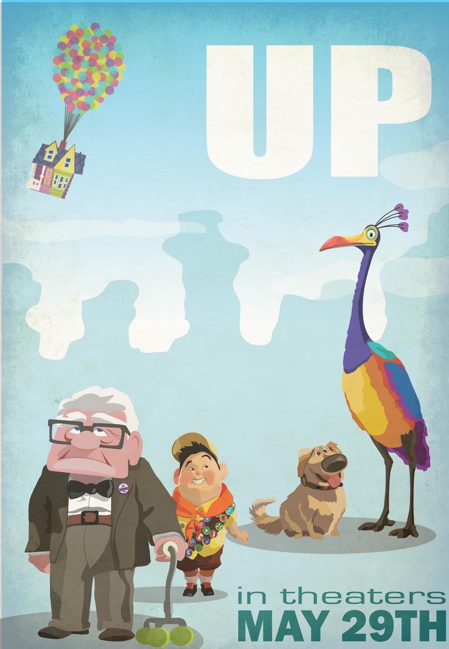 up movie poster by blankearthdesign fan art digital art vector movies    Pixar Up Movie Poster