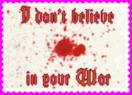I Don't Believe Stamp by reddartfrog