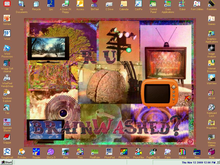 R U Brainwahed Desktop by reddartfrog