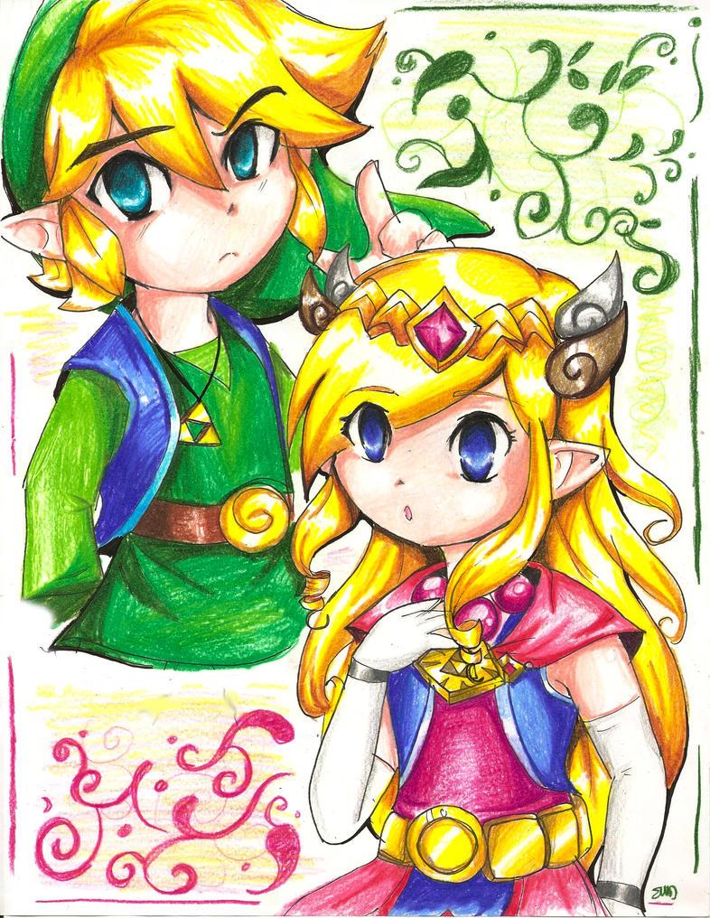 Link Albane and Zelda - Commission by ShadyBlade-TrueWolf