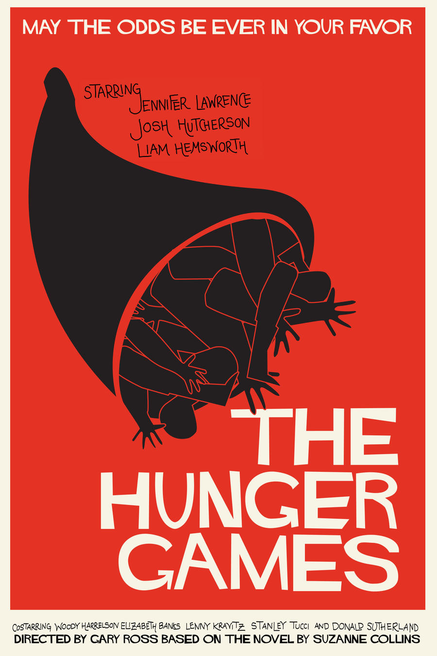 saul bass inspired hunger games poster by deathlytriforce on deviantart