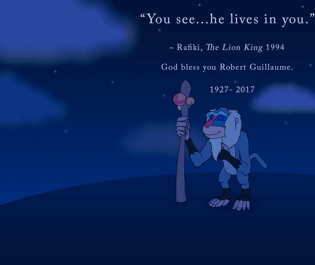 He Lives In You Dedicated To Robert Guillaume By Kylgrv On Deviantart