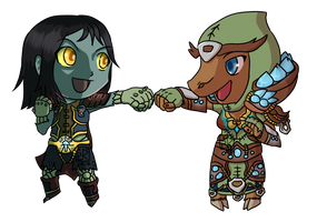 Commission: WoW Undead and Tauren