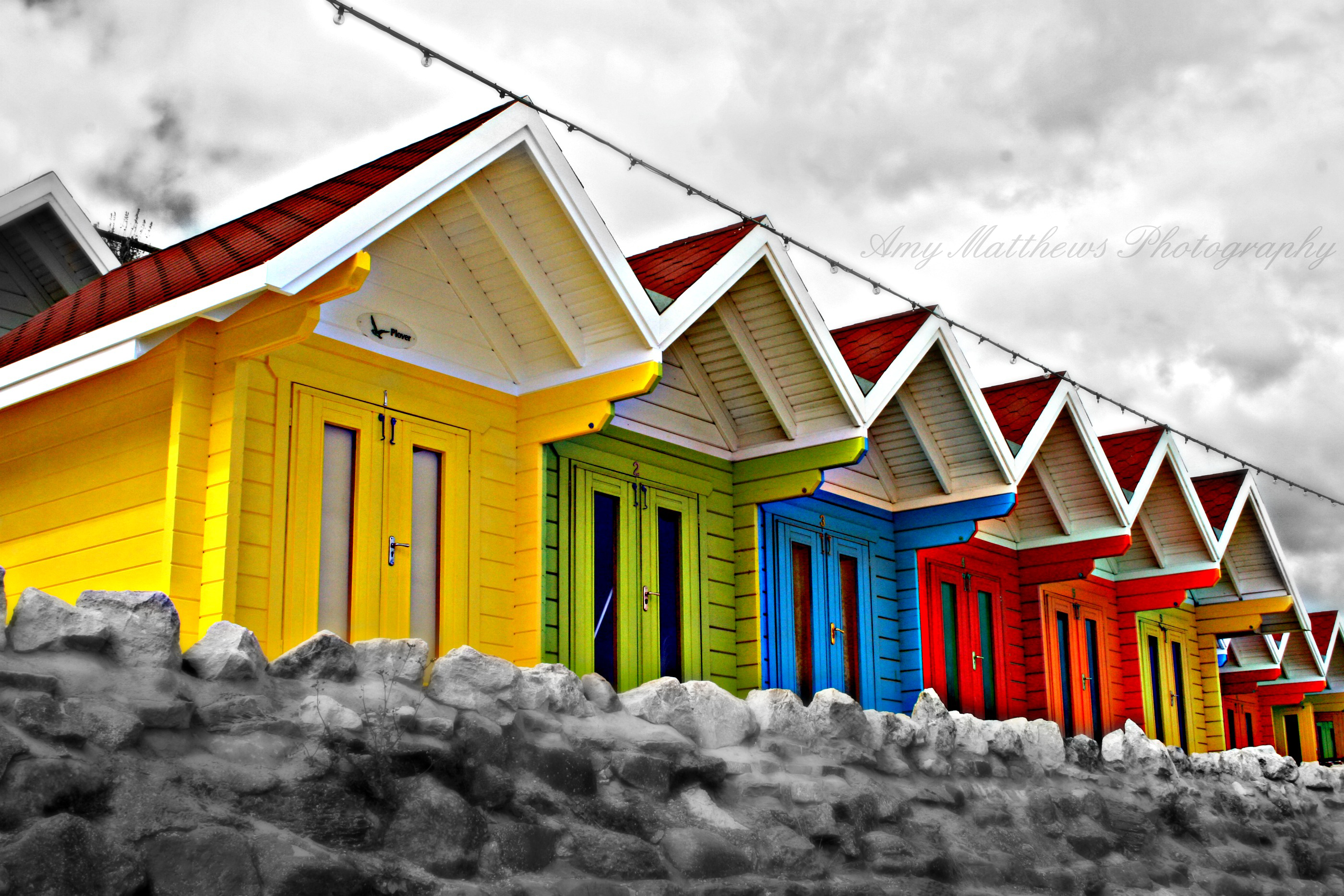 Beach Huts by Amylnm
