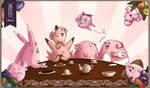 Custom Playmat - Rose Tea Party