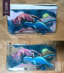 3DS xl Custom Case - Mew and Shining Mew