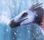 Christmas Raptor by UmbreoNoctie