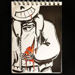 Inktober #11 - Cruel by UmbreoNoctie