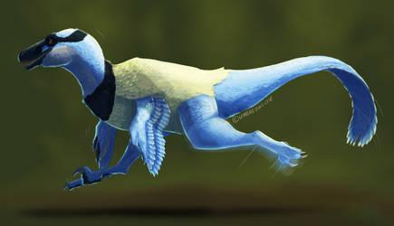 Running Dakotaraptor by UmbreoNoctie