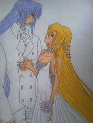 Katsu and Ange: wedding by Blackwhirlwind
