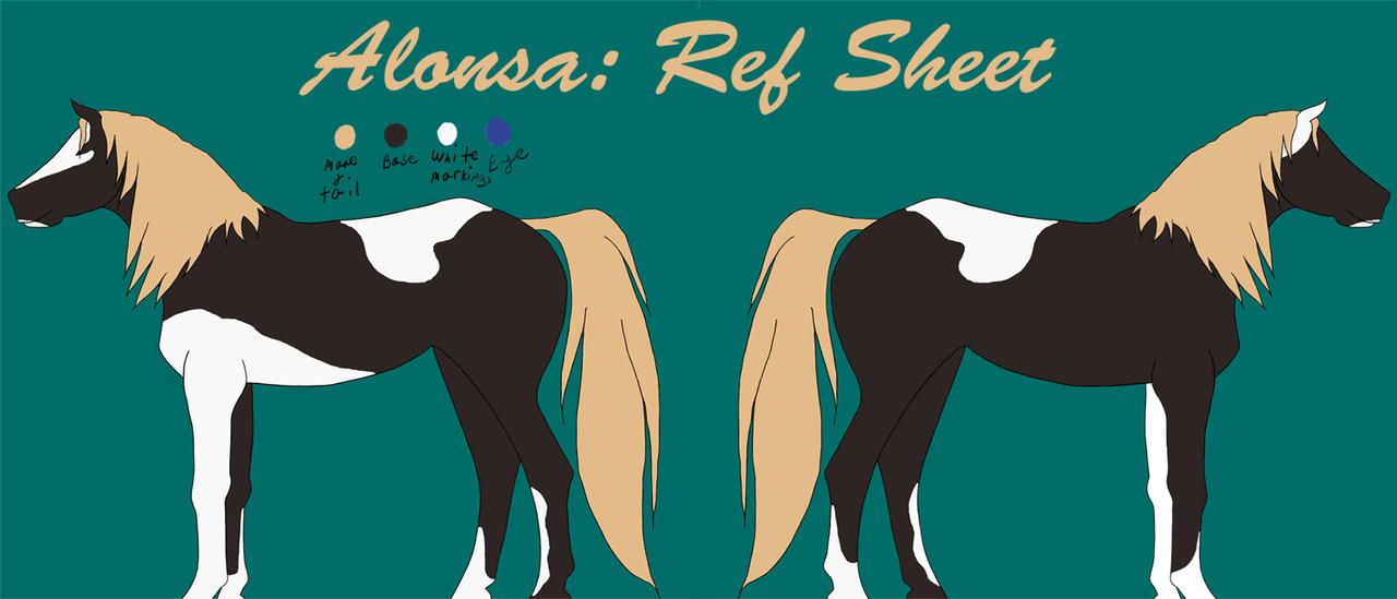 Alonsa Ref sheet by AlissaD