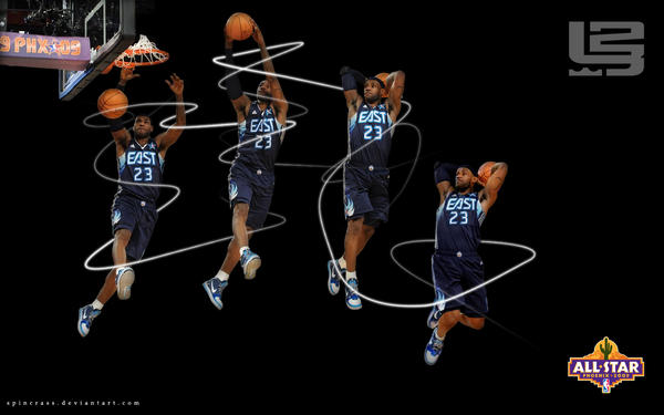 Lebron James Dunk Wallpaper By Spincrass On Deviantart