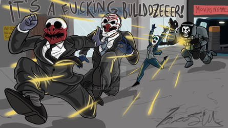 Payday 2: Boom's commission, 'Run to the hills!'