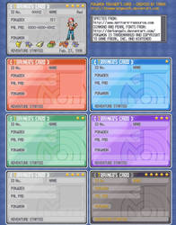 PKMN Trainer's Card Template