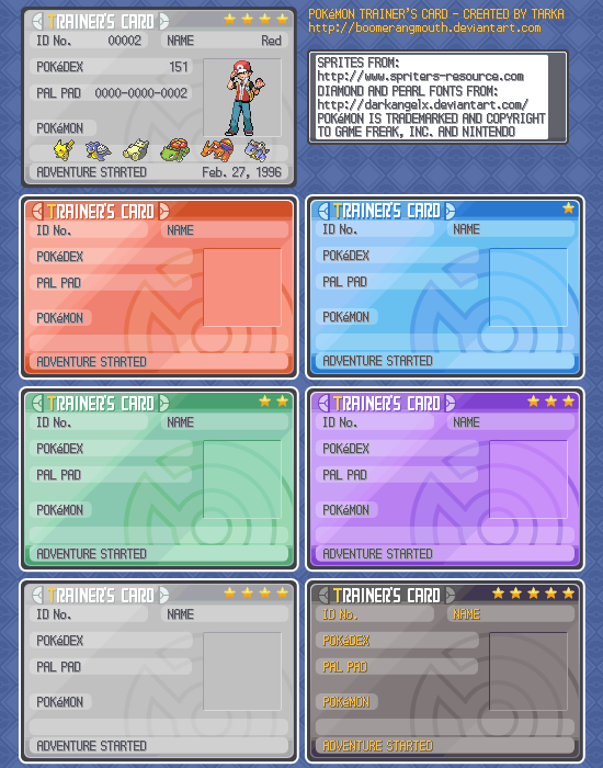 PKMN Trainers Card Template By Boomerangmouth On DeviantArt - Pokemon trainer card template