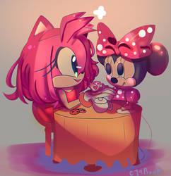 Minnie and Amy