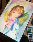 Frisk angel watercolors  by CyaBook