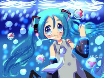 Miku water and fish. by CyaBook