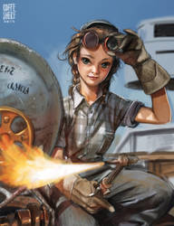 Wendy the welder by Coffeshere