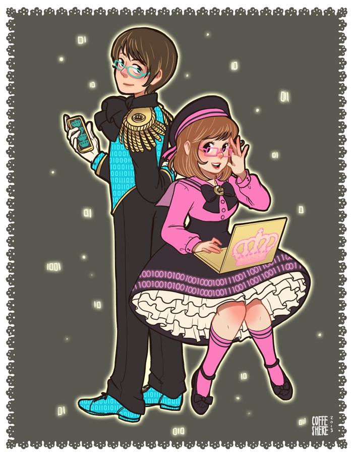 Mahou Lolita Shoujo- Roberto and Anna by Coffeshere